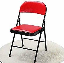 QFLY Red Bar Stool Folding Office Chair Creative