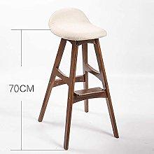 QFLY Retro Bar Stool Dining Chair Home Chair