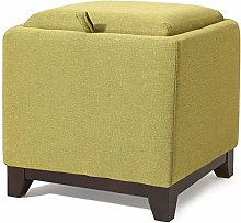 QFLY Sofa Stool Storage Stool With Cover Can Sit