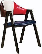 QFWM Dining Chairs High-density Sponge Solid Wood