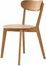 QFWM Dining Chairs Simple Modern Oak Home Chair
