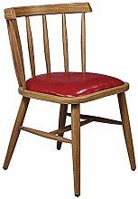 QFWM Dining Chairs Solid Wood Backrest