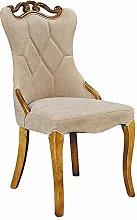 QFWM Dining Chairs Solid Wood Frame Comfortable