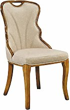 QFWM Dining Chairs Solid Wood Frame High Elastic