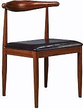 QFWM Dining Chairs Solid Wood Frame Imitation Wood