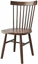 QFWM Dining Chairs Solid Wood Frame Walnut Simple