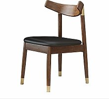 QFWM Dining Chairs Study Solid Wood Frame Book
