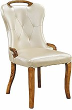 QFWM Dining Chairs Thick Milky White Artificial