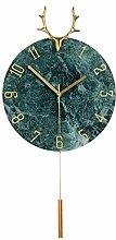 QFWM Wall Clock StylishNordic Elk Silent Metal
