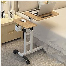 Qgg Adjustable table Rolling Laptop Table Lap Desk