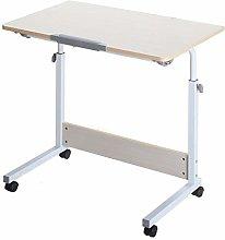 Qgg Adjustable table Rolling Laptop Table Lap Desk