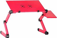 Qgg Adjustable table Two Fan Laptop Desks Portable