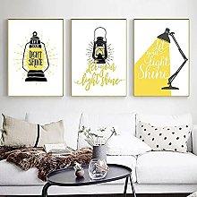 qggbgv Yellow Abstract Kerosene Lamp Decoration