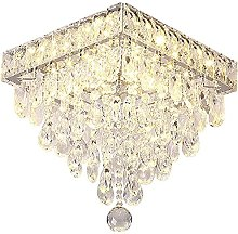 QHCS Chandelier Ceiling Light With Crystal Drop