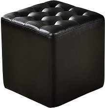 QHCS Faux Leather Waterproof Small Footstool