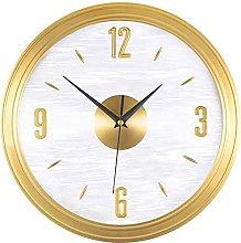 QHCS Wall Clock Copper Round Wall Clock Modern