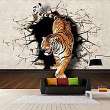 QHDHGR 3D Wallpaper Mural Animals & Tigers Wall
