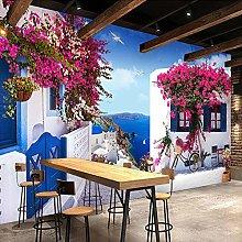 QHDHGR 3D Wallpaper Mural Blue Sky & Fuchsia