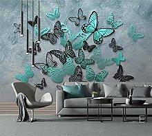 QHDHGR 3D Wallpaper Mural Butterfly Pattern Wall