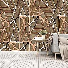 QHDHGR 3D Wallpaper Mural Gold & Geometric Pattern