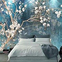 QHDHGR 3D Wallpaper Mural Magnolia Wall Murals for