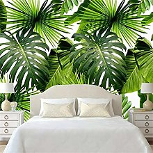 QHDHGR 3D Wallpaper Mural Nordic Green Plants Wall