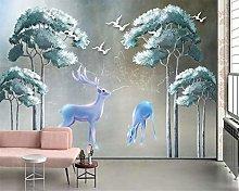 QHDHGR 3D Wallpaper Mural Painted & Deer Wall