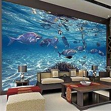 QHDHGR 3D Wallpaper Mural Underwater World Wall