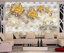 QHDHGR Wall Murals Wallpaper 3D Effects Flowers &