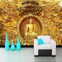 QHDHGR Wall Murals Wallpaper 3D Effects Golden &