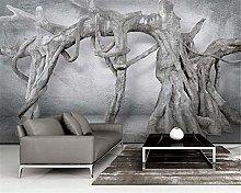 QHDHGR Wall Murals Wallpaper 3D Effects Grey Dead