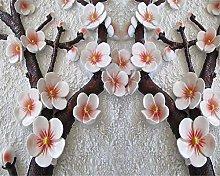 QHDHGR Wall Murals Wallpaper 3D Effects Pink&Plum
