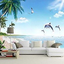 QHDHGR Wall Murals Wallpaper 3D Effects Seascape &