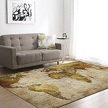 QHDHGR World Map carpet, Nordic retro carpet