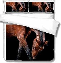 QHDIK Printed Kids Curtains 3D Animal horse eyelet