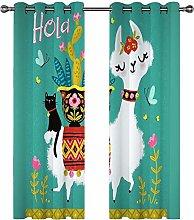 QHDIK Printed Kids Curtains 3D Card love animals