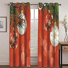 QHDIK Printed Kids Curtains 3D Four christmas