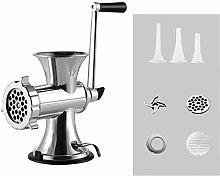 QHGao Stainless Steel Manual Meat Grinder,