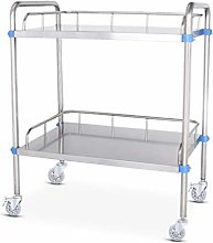 QHW Stainless steel medical trolley, 2/3-layer