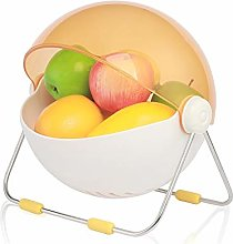 QHY Household round fruit basket with lid, living