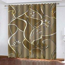 QHZSFF Blackout Curtains 3D Artistic pattern