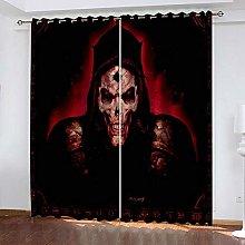 QHZSFF Blackout curtains for kids Skeleton