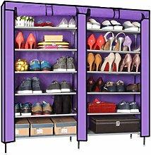 QI-shanping Shoe Cabinet Shoe Single Row Double