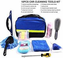 qianber 10Pcs Microfibre Car Wash Cleaning Tools