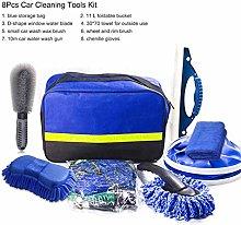 qianber 8Pcs Microfibre Car Wash Cleaning Tools