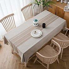 QIANC Rectangle Table Cloth Cotton Linen Table