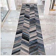 QianDa Runner Rug Hall Carpet, Geometric Soft Non