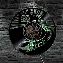 QIANGTOU American Football Wall Clock Rugby