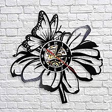 QIANGTOU Butterfly and Flower Nature Wall Art Home