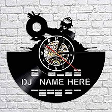 QIANGTOU DJ Mixer Vinyl Record Wall Clock Decorate